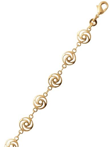 Bracelet rosaces plaqué or