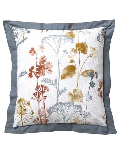 Taies FLEURS MONTANTES - Becquet - Imp.fleurs blanc/gris