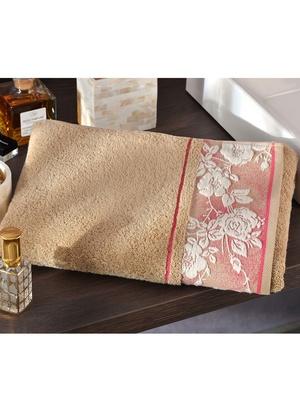 La serviette liteau fleuri, 450g/m2