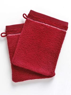 Lot de 2 gants à liteau fleuri, 450g/m2
