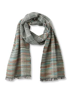 Echarpe frangée, avec laine