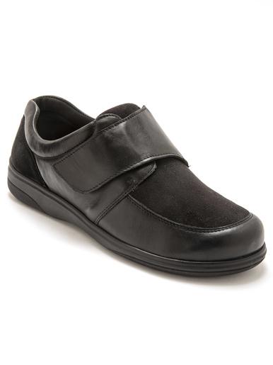 Derbies ultra larges pieds sensibles - Pédiconfort - Noir