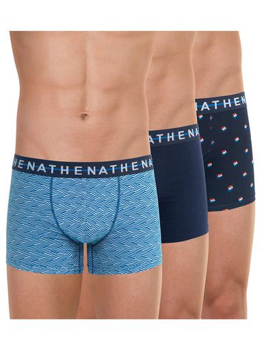 Lot de 3 boxers Easy Style - Athéna - Imprimé-marine-imprimé