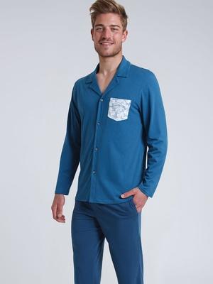 Pyjama long col ouvert Summer Vibes