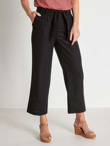 Pantalon raccourci large tissu souple