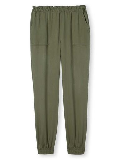 Pantalon cargo en lyocell