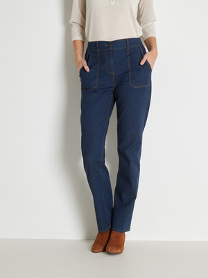 Pantalon léger effet denim