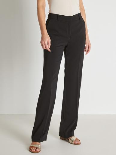 Pantalon droit élastiqué dos - Charmance - Noir