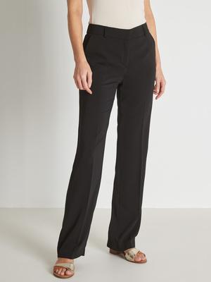 Pantalon droit élastiqué dos
