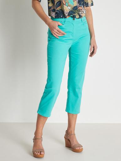 Pantalon corsaire en toile extensible