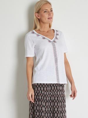 Tee-shirt pur coton flammé
