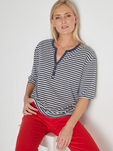 Tee-shirt marinière avec lin