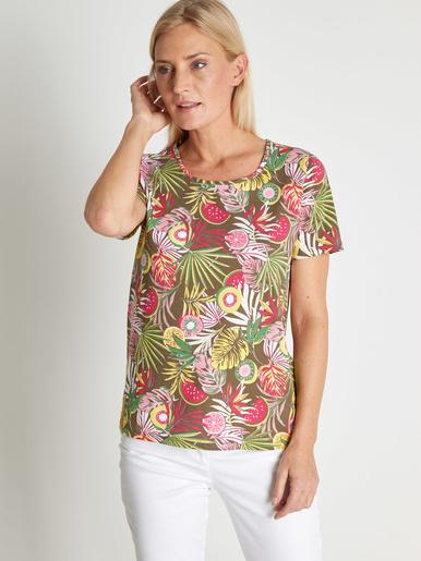 Tee-shirt tunique pur coton - Kocoon - Imprimé vert