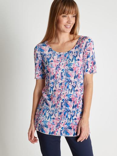 Tee-shirt au plissé permanent - Charmance - Imprimé rose/bleu