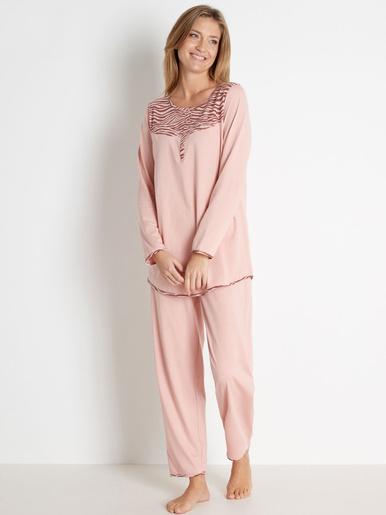 Pyjama en maile pur coton bio - Balsamik - Bois de rose