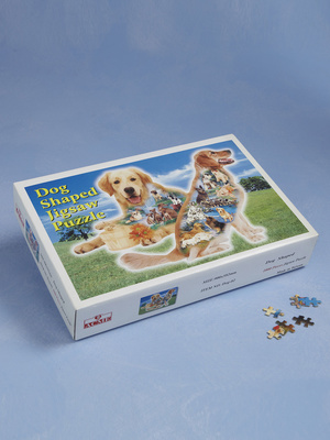 Puzzle silhouette chien golden retriever