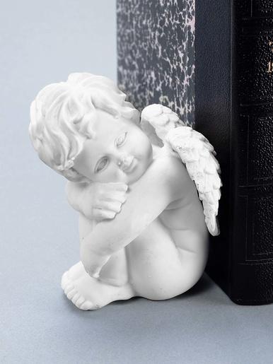 2 angelots serre-livres -  - Blanc