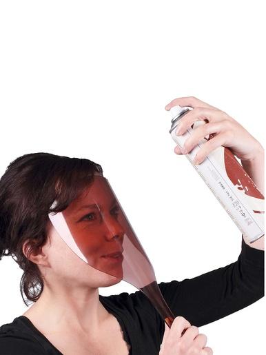Masque anti projection laque cheveux -  - Marron