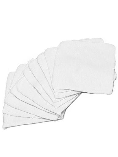 10 patchs démaquillants microfibre -  - Blanc