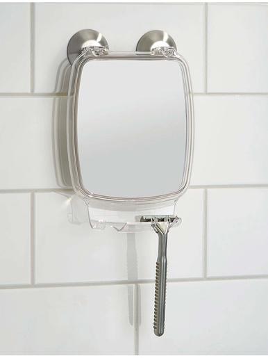 Miroir salle de bain à ventouses -  - Argenté