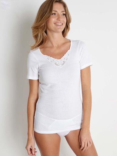 Lot de 2 chemises manches courtes bio - Lingerelle - Blanc