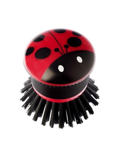 Mini brosse vaisselle coccinelle -  - Rouge/noir