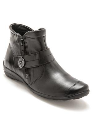 Boots cuir double zip avec aérosemelle®