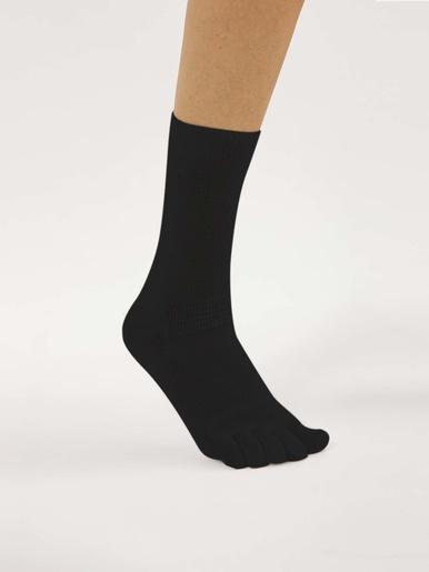 Mi-chaussettes diabétiques. - Lingerelle - Noir