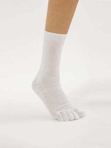 Mi-chaussettes diabétiques. - Lingerelle - Blanc