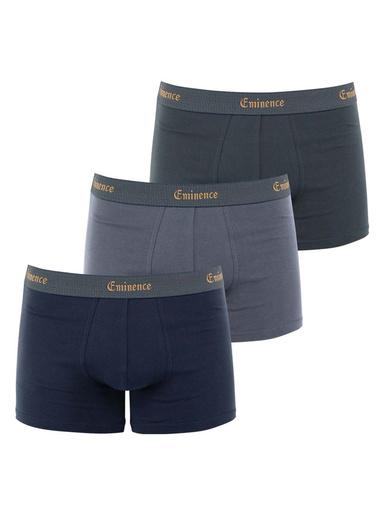 Lot de 3 boxers coton bio - Eminence - Marine + gris clair + gris foncé
