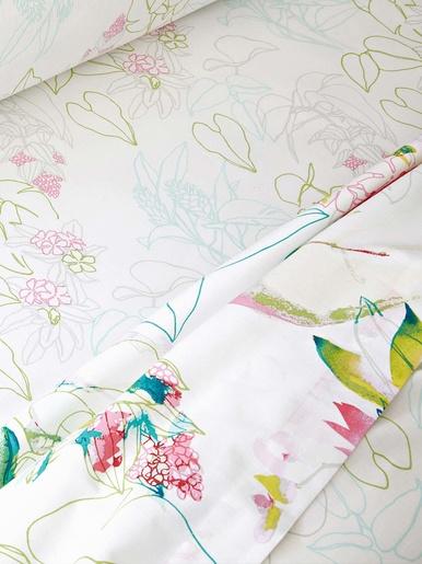 Drap FLEURS d'ETE - Becquet - Imp. fleurs d'été