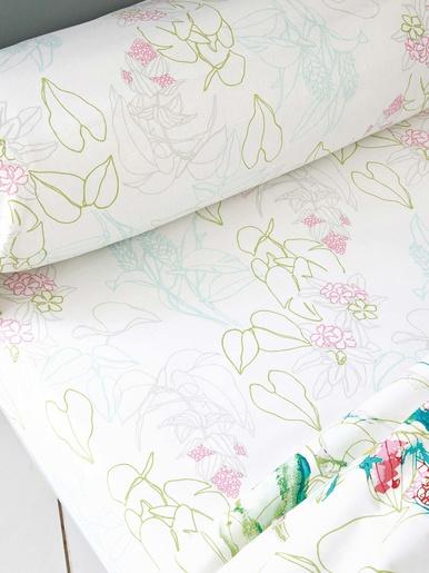 Drap-housse FLEURD d'ETE - Becquet - Imp. fleurs d'été