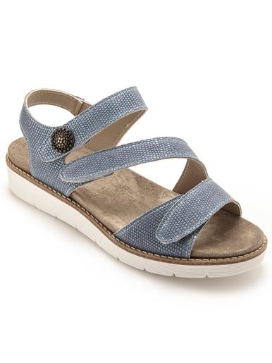 Sandales ouverture totale - Pédiconfort - Bleu