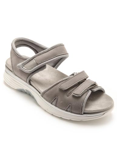 Sandales spécial marche à scratchs - Pédiconfort - Gris