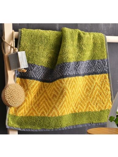 Drap de bain motif chevrons 450g/m2 - Becquet - Vert