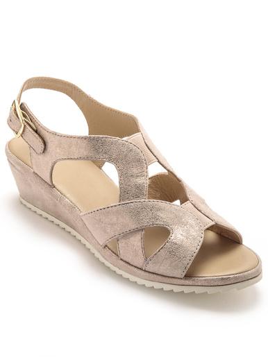 Sandales hautes sans coutures blessantes - Pédiconfort - Beige