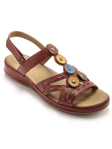 Sandales cuir sans coutures blessantes - Pédiconfort - Rouge