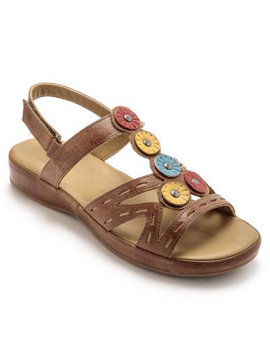 Sandales cuir sans coutures blessantes - Pédiconfort - Camel