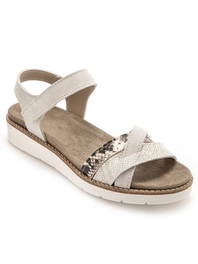 Sandales ultra flexibles semelle lavable - Pédiconfort - Gris