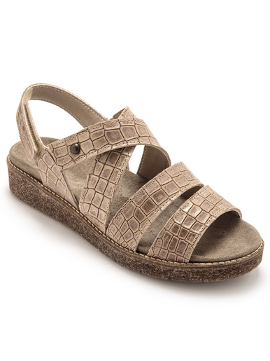 Sandales à scratch aérosemelle amovible - Pédiconfort -