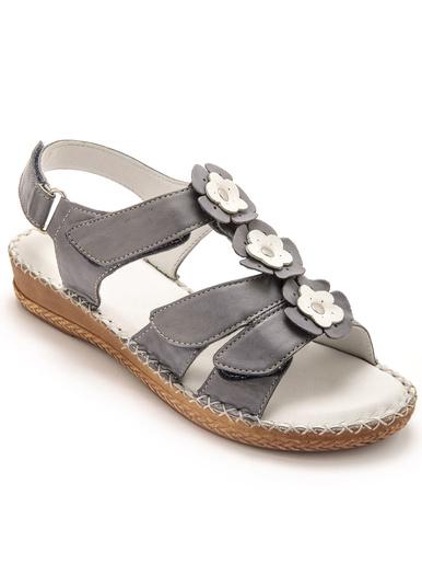 Sandales ouverture totale à aérosemelle - Pédiconfort - Bleu