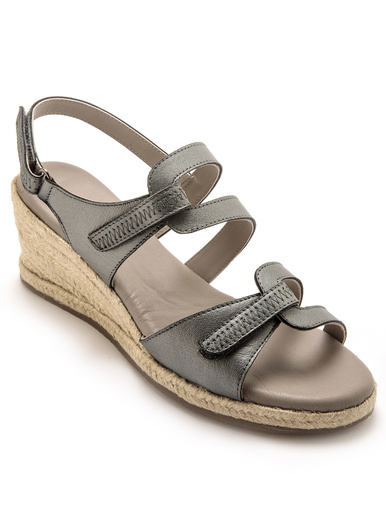 Sandales aéorosemelle mémoire de forme - Pédiconfort - Argent