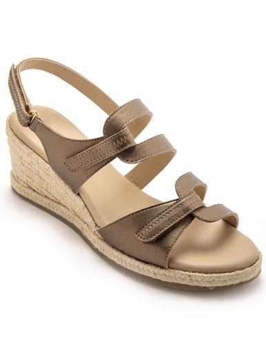 Sandales aéorosemelle mémoire de forme - Pédiconfort - Mordoré