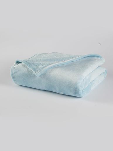 Couverture en micro-velours - Carré d'azur - Turquoise pastel