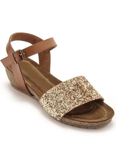 Sandales cuir à aérosemelle® - Pédiconfort - Marron