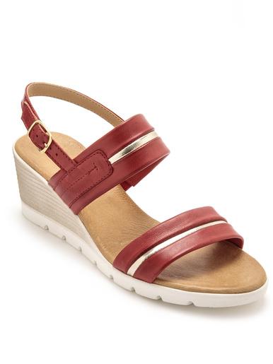 Sandales hautes à aérosemelle - Pédiconfort - Rouge