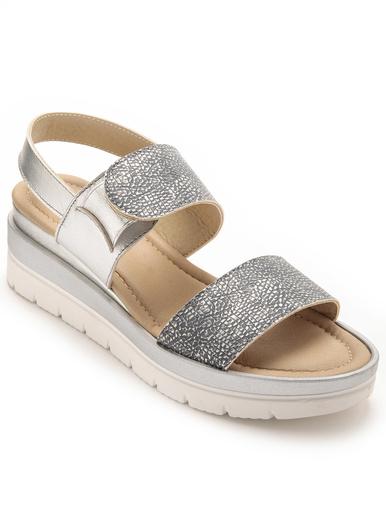 Sandales avec élastique au cou-de-pied - Pédiconfort - Bleu