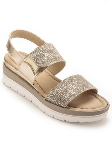 Sandales avec élastique au cou-de-pied - Pédiconfort - Vison