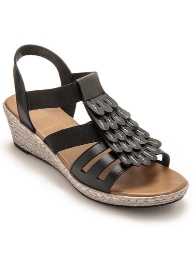 Sandales fantaisie en cuir - Pédiconfort -
