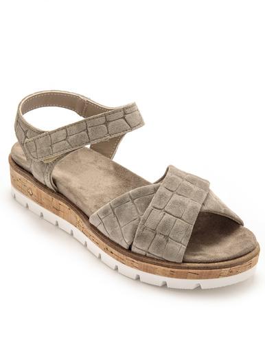 Sandales à aérosemelle amovible - Pédiconfort - Kaki